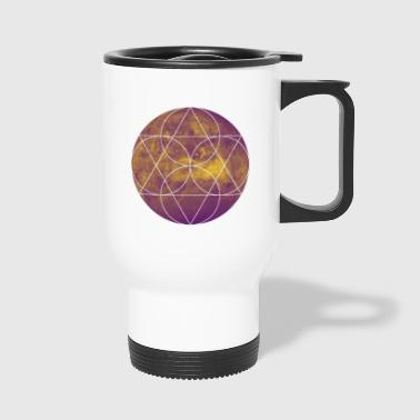 Mars bichromie Hipster Conception minimum chemise - Mug thermos