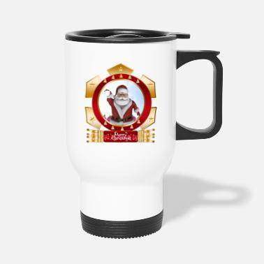 Shield Christmas Santa Xmas Merry Christmas Scene - Travel Mug