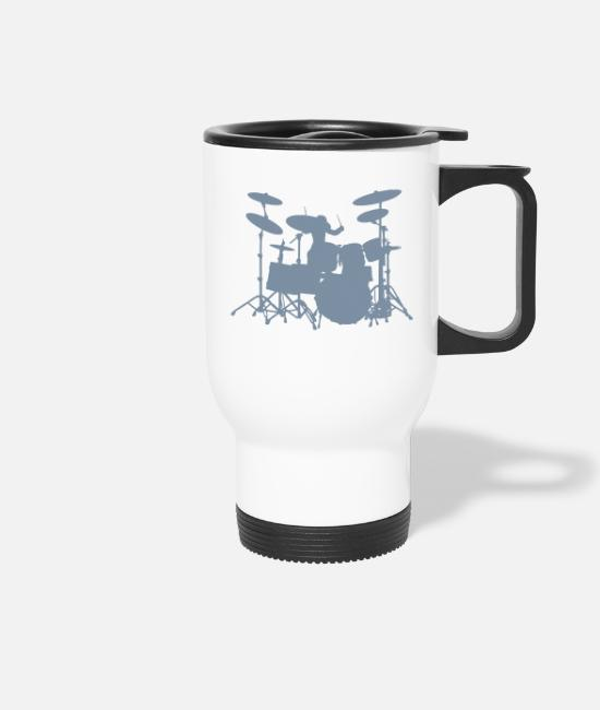 Pearl Mugs & Drinkware - Drums - Travel Mug white
