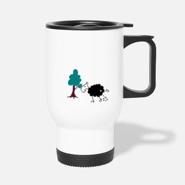 Schwarzes Schaf Schwarzes Schaf Pisser / Sheep in wolf's clothing - Travel Mug