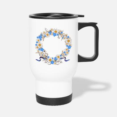 Gentian Gentian Edelweiss wreath - Travel Mug