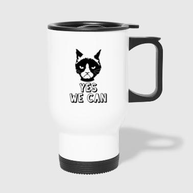 Yes we can / katze - Thermobecher