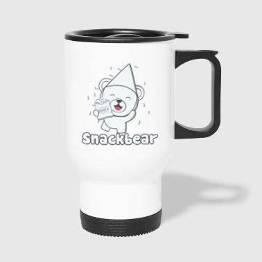 Snack bear / snack bear with hat - Travel Mug
