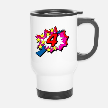 Pop Star POP Star is 4 years old - Travel Mug