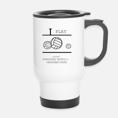 Volley Volley-ball, beach-volley, les filles de volley-ball - Mug thermos