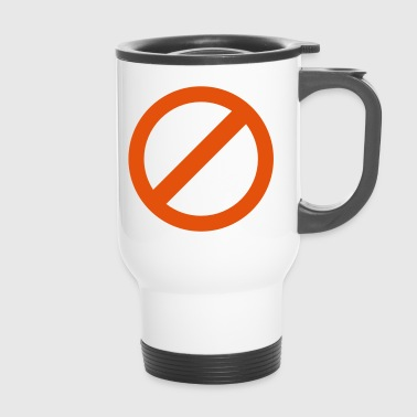 strikeout none NO symbol - Travel Mug