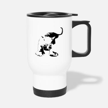 Aggressive Cat Aggressive Attacking - Travel Mug