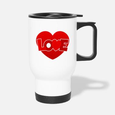Love With Heart Love with heart - Travel Mug