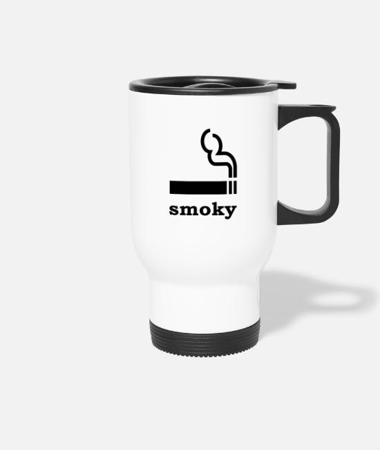 Cigarette Mugs & Drinkware - smoke - Travel Mug white
