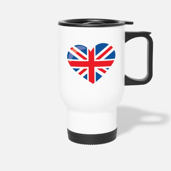 Love Mugs & Drinkware - LONDON - Travel Mug white