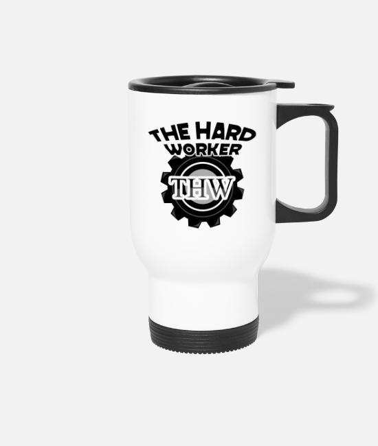 Design Mugs & Drinkware - twh the hard worker motivational design shirt gifts s - Travel Mug white