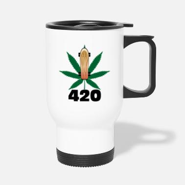 Skateboard 420 skateboarding. - Travel Mug