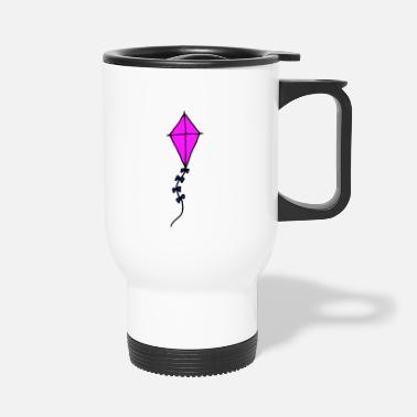 Hang Glider Dragon, pink, girl - Travel Mug