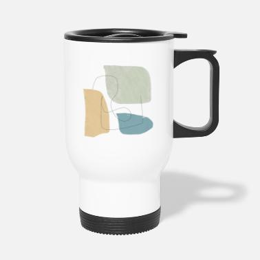 Shape Underwear Minimalistic abstract background N3 - Travel Mug