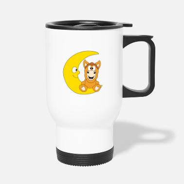 Lovely Funny horse - pony - horse - moon - child - baby - Travel Mug