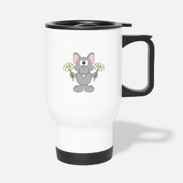 Trend Funny Rat - Flowers - Gift - Animal - Fun - Travel Mug