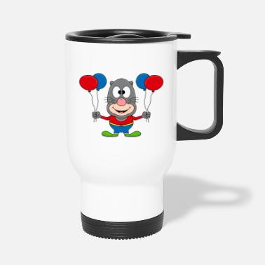 Mole Mole - clown - circus - balloons - animal - Travel Mug