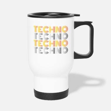 Techno Techno Techno Techno Techno Minimal Shirt - Thermobecher
