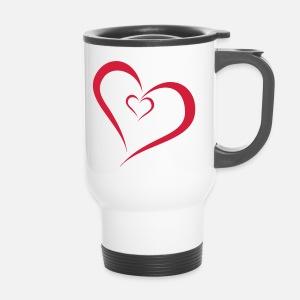 Zwei Herzen Ineinander Trinkflasche Spreadshirt