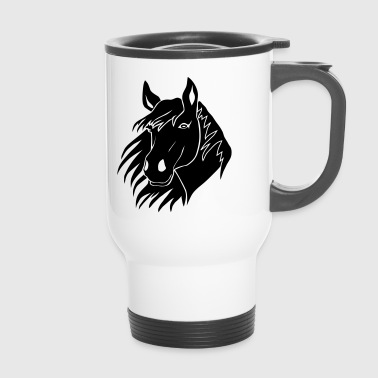 Poney cheval équitation poney  cavalier - Mug thermos