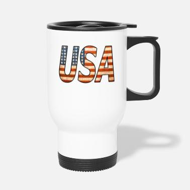 Kiss UNITED STATES! Great USA lettering! Great gift idea! - Travel Mug