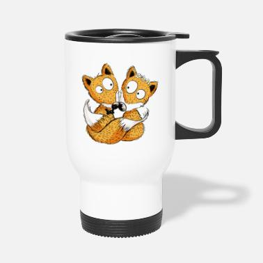 Couples Fox Wedding - Marriage - Couple - Bride - Gift - Travel Mug