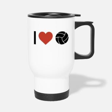 Sports I heart volleyball sport - Travel Mug