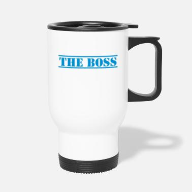 Stencil THE BOSS in stencil - Travel Mug