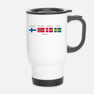 Scandinavie Désolé - en scandinave - Mug thermos