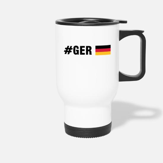 Soccer Mugs & Drinkware - #GER (3c) - Travel Mug white