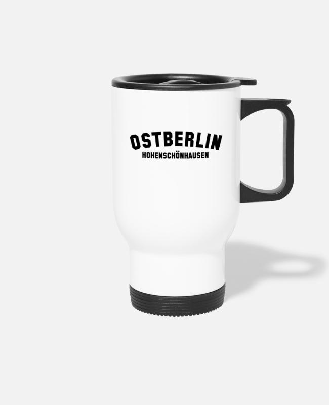 GDR Mugs & Drinkware - HOHENSCHÖNHAUSEN - Travel Mug white