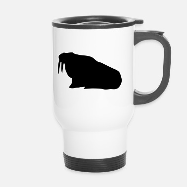 Silhouette animal de morse - Mug thermos