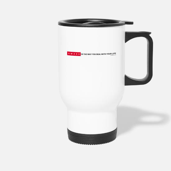 Long Mugs et récipients -  Smash - Long - Mug isotherme blanc