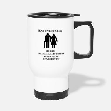 Parents Diplôme des meilleurs grands-parents - T-shirt - Mug isotherme