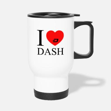 Dash dash black - Travel Mug