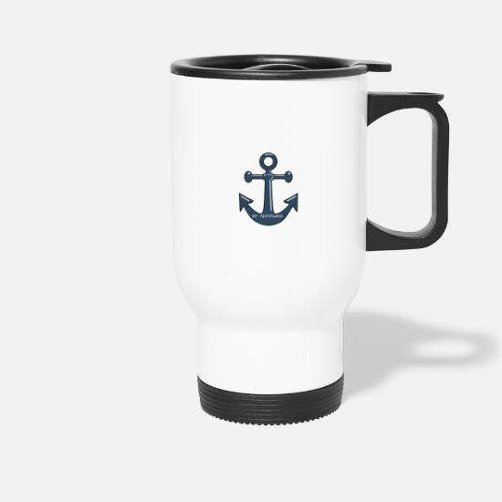 Anchor Mugs & Drinkware - anchor - Travel Mug white