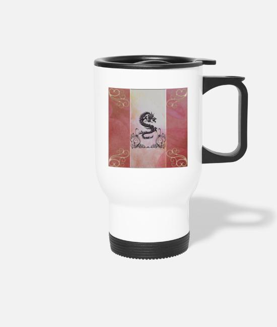 Symbol  Mugs & Drinkware - Awesome Chinese Dragon - Travel Mug white