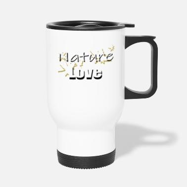 Om Nature Love Nature Love Nature Love Leaves - Travel Mug