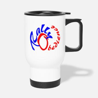 Rally Obedience Rally obedience design for dog sport with dog - Travel Mug