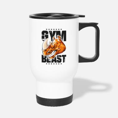 Tain rhinoceros gym beast - Travel Mug