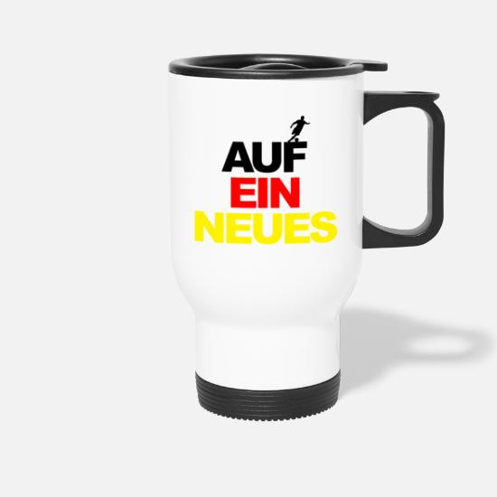 World Championship Mugs & Drinkware - European Championship on a new world champion football Germany - Travel Mug white