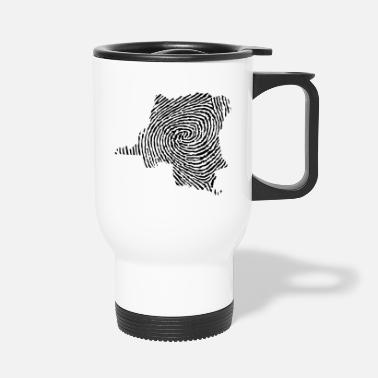 Democrat Democratic Republic of Congo fingerprint - Travel Mug