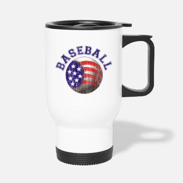 Retro Baseball - Retro - Travel Mug