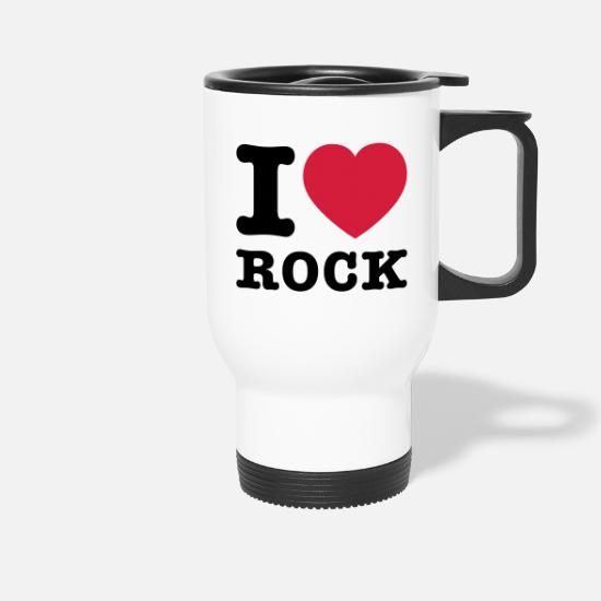 I Love Rock Mugs & Drinkware - I Love Rock 2 - Travel Mug white