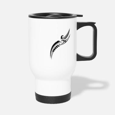 Motif guerrier tribal - Polynésien traditionnel - Mug isotherme