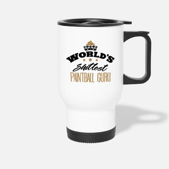 Guru Mugs & Drinkware - worlds shittest paintball guru - Travel Mug white