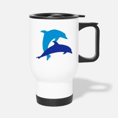 Hval Dolphins and heart, dolphin (super cheap!) - Termokrus