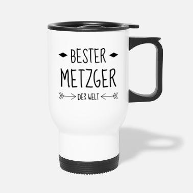 Cutter Butcher Metzger Boucher Carnicero Meat BBQ - Travel Mug