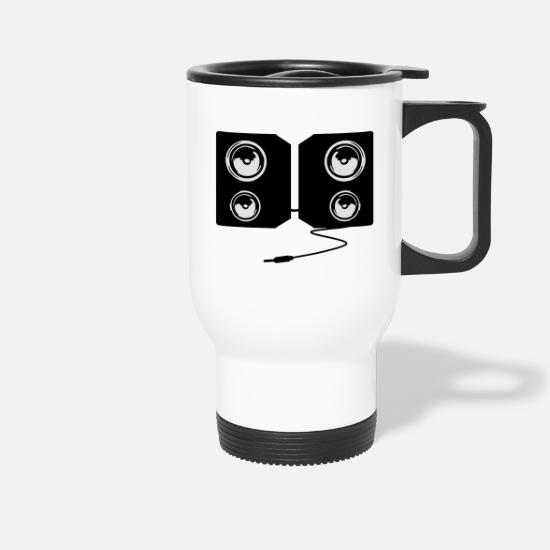 Music Mugs & Drinkware - stereo music - Travel Mug white