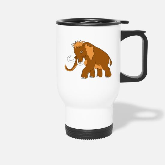Strong Mugs & Drinkware - mammoth - Travel Mug white